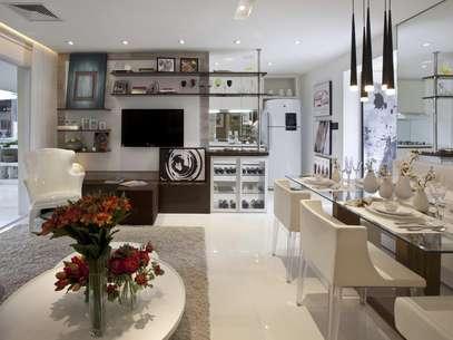Para atrair clientes, construtoras têm caprichado nos apartamento decorados nos estandes de venda Foto: Fernanda Marques Arquitetos Associados