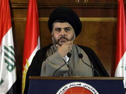 Iraqi Shiite cleric Moqtada al-Sadr listen to questions during a news conference in Arbil, about 350 km (220 miles) north of Baghdad April 26, 2012. Foto: Azad Lashkari / Reuters In English