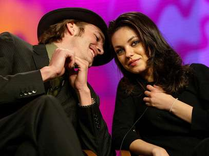 Mila Kunis y Ashton Kutcher. Foto: Getty Images