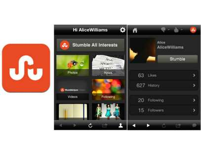 STUMBLEUPON.- Hay millones y millones de pginas web disponibles y lo que esta app hace es mostrarte las que ms te interesarn. Primero tienes que completar un filtro con tus preferencias, despus te mostrar los sitios que se relacionen a stas y a las cuales podrs darles like, compartir con tus redes, calificar y leer sus reseas. Destacamos: a medida que calificas el contenido que te muestra, va  aprendiendo tus gustos. Foto: STUMBLEUPON