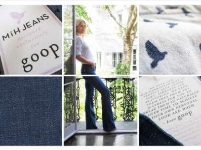 A atriz até posou com modelo da calça vendido em seu portal Foto: Divulgação