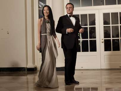 Vera Wang y Arthur Becker Foto: Getty Images