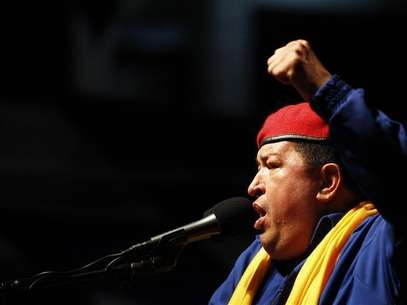 Venezuela's President Hugo Chavez speaks during an election rally in Barcelona in the state of Anzoategui July 12, 2012. Foto: Carlos Garcia Rawlins / Reuters In English