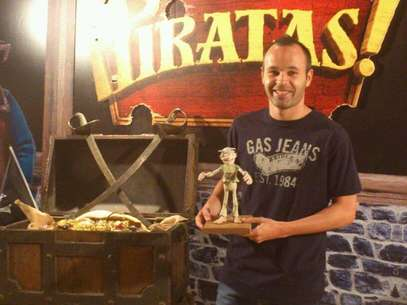 Iniesta en la presentacin de la pelcula Piratas. Foto: Facebook Andrs Iniesta.