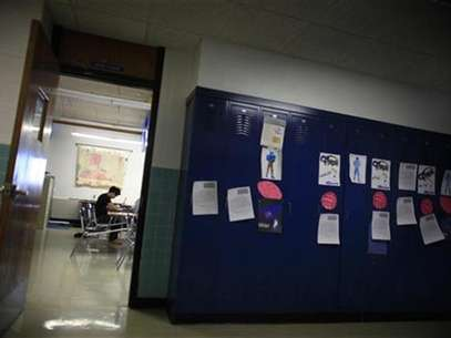 A student in a classroom at a South Dakota public high school, February 14, 2012. Foto: Jim Young / Reuters In English