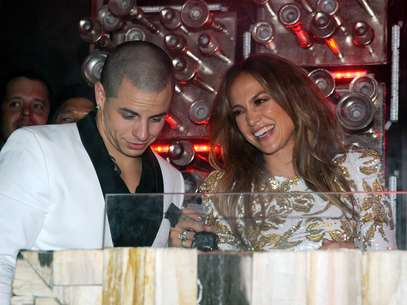 Jennifer Lopez y Casper Smart. Foto: Getty Images