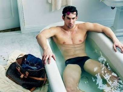 Phelps en campaa de Louis Vitton Foto: Reproduccin