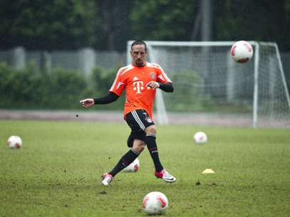 Ribery, en entrenamiento con el Bayern. Foto: Getty Images