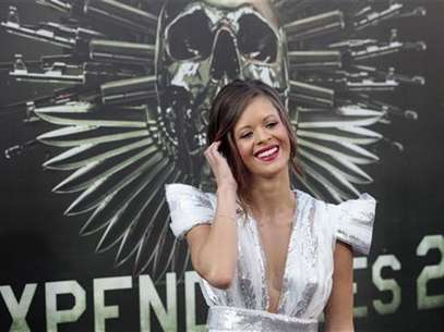 "Cast member Nikolette Noel poses at the premiere of ""The Expendables 2"" at the Grauman's Chinese theatre in Hollywood, California August 15, 2012. Foto: Mario Anzuoni / Reuters In English"