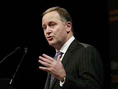 New Zealand Prime Minister John Key gives a speech at the Trans-Tasman Business Circle Lunch in central Sydney July 5, 2012. Foto: Daniel Munoz / Reuters In English