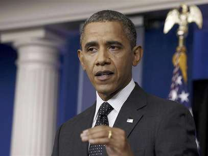 U.S. President Barack Obama speaks after dropping by in the press briefing room at the White House in Washington, August 20, 2012. Foto: Larry Downing / Reuters In English