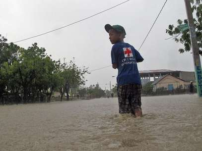 Tormenta Isaac ya hizo estragos en su paso por Repblica Dominicana Foto: AP