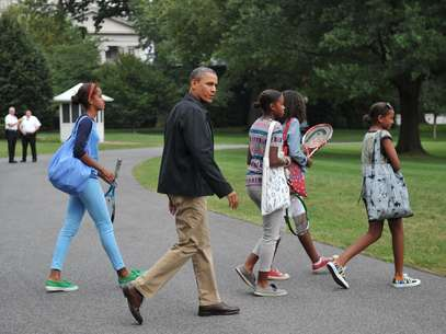 Obama regresa a la Casa Blanca desde Camp David con su familia. Foto: Getty Images