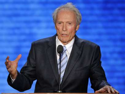 El actor Clint Eastwood se dirige ante los asistentes a la Convencin Nacional Republicana en Tampa, Florida, el jueves 30 de agosto de 2012.  Foto: AP