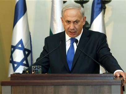 Israeli Prime Minister Benjamin Netanyahu speaks during a joint news conference with his Bulgarian counterpart Boiko Borisov (not pictured) in Jerusalem September 11, 2012. Foto: Pool / Reuters In English