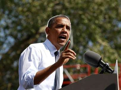 U.S. President Barack Obama speaks during a campaign rally in Golden, Colorado September 13, 2012. Foto: Kevin Lamarque / Reuters In English