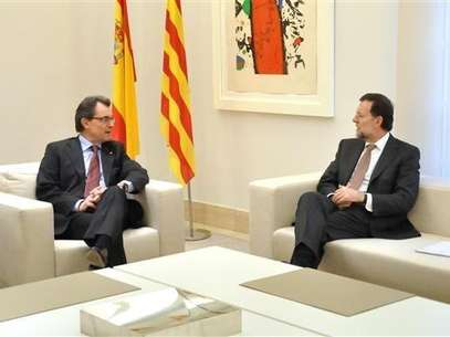 Mariano Rajoy y Artur Mas, en su ltima reunin. Foto: MONCLOA