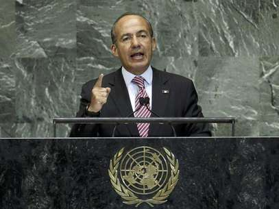 Mexico's President Felipe Calderon addresses the 67th United Nations General Assembly at U.N. headquarters in New York, September 26, 2012. Foto: Mike Segar / Reuters In English