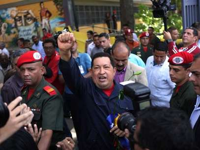 It was Chavez's third re-election victory in nearly 14 years in office.  Foto: AP