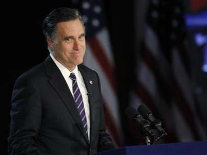 U.S. Republican presidential nominee Mitt Romney gives his concession speech after losing the election to U.S. President Barack Obama, at Romney's election night rally in Boston, Massachusetts November 7, 2012. Foto: Shannon Stapleton / Reuters