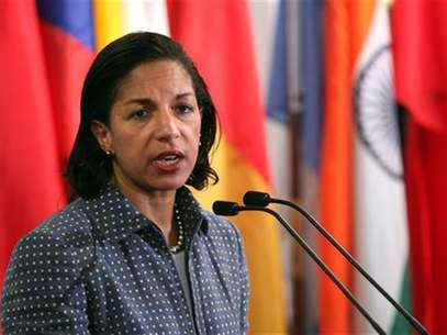 U.S. ambassador to the United Nations Susan Rice speaks with the media after Security Council consultations at U.N. headquarters in New York June 7, 2012. Foto: Allison Joyce / Reuters