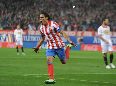Radamel Falcao scored his 50th goal in 63 matches as a member of Atletico Madrid. Foto: Getty Images