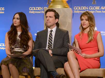 Megan Fox, Ed Helms y Jessica Alba dieron a conocer a los nominados a los Golden Globes 2013 Foto: Getty Images