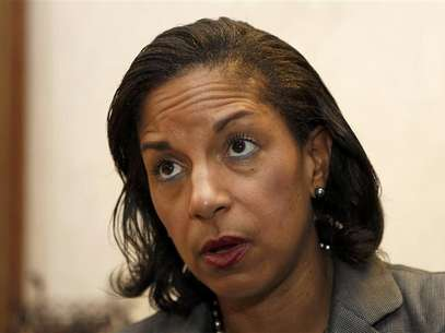 United States Ambassador to the United Nations Susan Rice is interviewed in Boca Raton, Florida, in this May 10, 2012 file photo. Rice says that she is withdrawing from consideration for Secretary of State to avoid a lengthy, costly Senate confirmation battle. Foto: Joe Skipper / Reuters