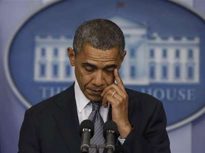 U.S. President Barack Obama speaks about the shooting at Sandy Hook Elementary School in Newtown, Connecticut, during a press briefing at the White House in Washington December 14, 2012. Foto: Larry Downing / Reuters