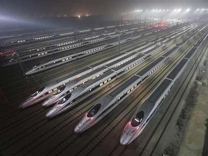 A China inaugurou nesta quarta-feira a linha de trem mais rápida do mundo ligando Pequim à metrópole de Guangzhou no sul do país. REUTERS. Foto: Reuters