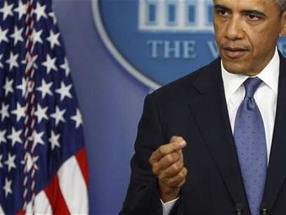 U.S. President Barack Obama makes a point during remarks to reporters after meeting with congressional leaders at the White House in Washington, December 28, 2012. Foto: Jonathan Ernst / Reuters