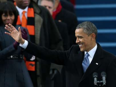 Obama arrived at his second inauguration on solid footing,. Foto: AP