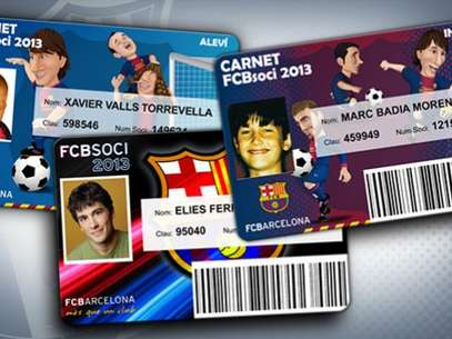 Milan Pique would have received a membership card similar to this one.  Foto: Divulgación