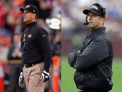 El Super Bowl ser un duelo sin precedentes entre dos entrenadores hermanos: John Harbaugh de los Ravens, frente a Jim de los 49ers, monarcas de la Nacional. Foto: AP