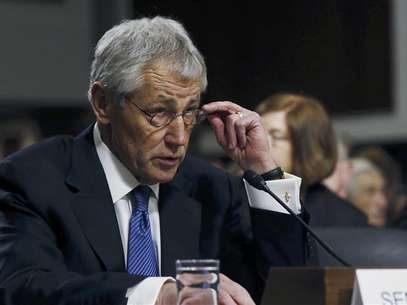 Former Sen. Chuck Hagel (R-NE) testifies before the Senate Armed Services Committee to be. Foto: Reuters
