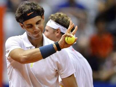 Nadal venceu ao lado de Nalbandiane jogará de novo no torneio de duplas antes de estrear na competição de simples Foto: Fernando Borges / Terra