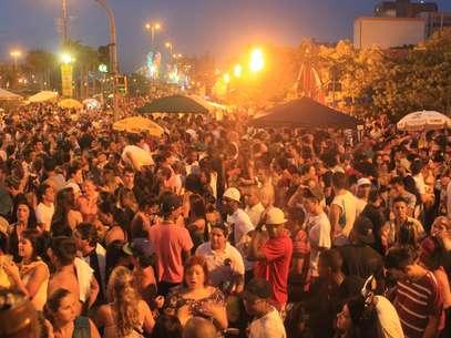 O show do monobloco foi o último da programação oficial do Carnaval de Florianópolis Foto: Fabrício Escandiuzzi / Terra