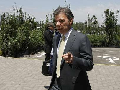 Colombia's President Juan Manuel Santos is seen at the summit of the Community of Latin American and Caribbean States (CELAC) in Santiago, January 28, 2013. Foto: Eliseo Fernandez / Reuters