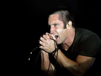 Trent Reznor of music group Nine Inch Nails performs at the Voodoo Music Experience concert held at Riverview Park in New Orleans, Louisiana October 29, 2005. Foto: Lucas Jackson / Reuters