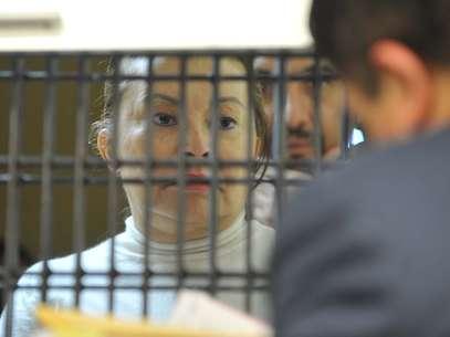 La ex lideresa magisterial fue aprehendida acusada de desviar 2 mil millones de pesos del SNTE. Foto: Cortesía PGR