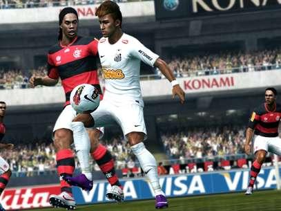Ronaldinho no Flamengo?Novo DLC do 'PES 2013' atualiza o mercado de transferências Foto: Divulgação