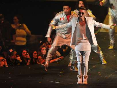 Justin Bieber en el Arena 02 Foto: Getty Images