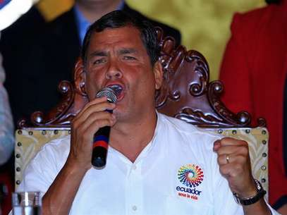 El presidente ecuatoriano, Rafael Correa, era muy amigo de Hugo Ch&aacute;vez. Foto: EFE