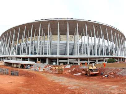 Estádio Nacional passou por vistoria neste domingo Foto: Adalberto Marques/Agif / Gazeta Press