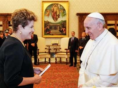 O papa Francisco já recebeu a presidente brasileira no Vaticano em março do ano passado Foto: Roberto Stuckert Filho / Agência Brasil