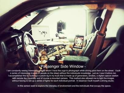 Foto do carro de Tergo e descrição do projeto Foto: Johnny Tergo / Reprodução