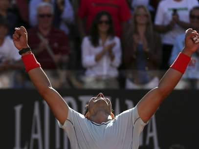 Nadal celebra su victoria Foto: 