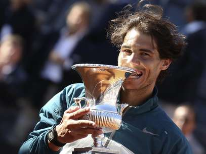 Nadal muerde su copa Foto: 