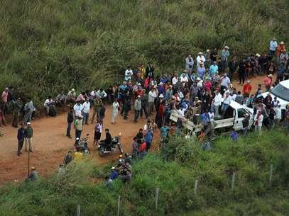 Houve confronto entre índios e forças policiais na fazenda Buriti, em Sidrolândia Foto: Moisés Palácios / Futura Press