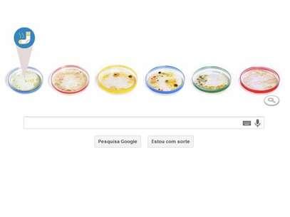 Julius Richard Petri é homenageado em doodle que mostra sua invenção, a placa de Petri Foto: Reprodução